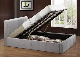 Birlea Ottoman Birlea Grey Fabric 4ft Small Ottoman Bed Frame By