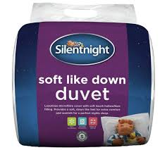 buy silentnight soft like down anti allergy 10 5 tog duvet sgl