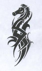 horses tattoos design for woman