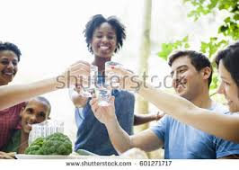 family gathering meal adults children around stock photo 601271837