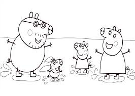 peppa pig painting doll colouring colouring pics