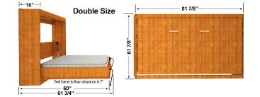 Folding Bunk Bed Plans Lovable Horizontal Easy Diy Murphy Finished Dimensions Sizes