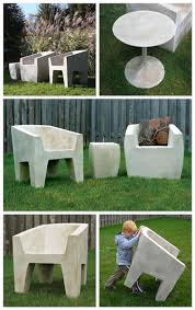 best 25 concrete outdoor furniture ideas on pinterest cinder