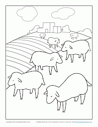 parable of lost sheep coloring pages coloring home