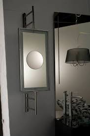 wall mounted mirror contemporary rectangular magnifying 01