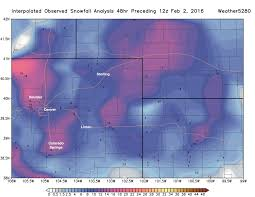 Snowfall Totals Map February 2nd Snowfall Totals For Northeast Colorado And Winter
