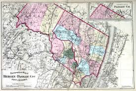 county map historical bergen county new jersey maps