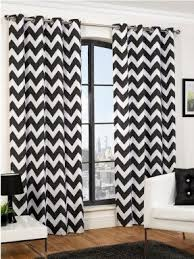 Chevron Pattern Curtains Black And White Curtains Visualizeus