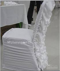 spandex chair covers for sale white ruffled spandex chair cover with satin crush flower in the