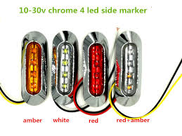led truck marker lights 100x led side marker lights clearance tail l 12v 24v external