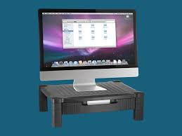 Organize Your Desk by This Monitor Stand Is The Easiest Way To Organize Cable Clutter