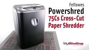fellowes powershred 75cs cross cut paper shredder youtube