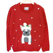 french bulldog light up tacky ugly christmas sweater the ugly