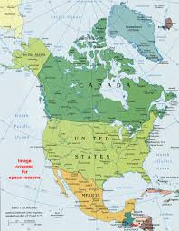 Map Of The Continental United States by North America Political Map Political Map Of North America