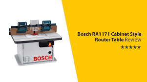 bosch ra1171 cabinet style router table u2013 the complete package
