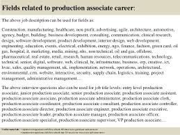 Sales Consultant Job Description Resume by Top 8 Production Associate Resume Samples Manufacturing