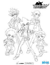 beyblade group 5 characters coloring pages hellokids com
