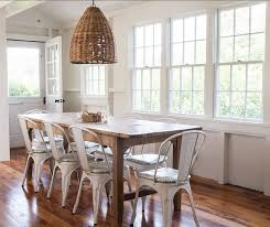 Wicker Pendant Light Cottage Dining Room With Wainscoting U0026 Hardwood Floors Zillow
