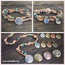 bracelet kit images Boho bracelet kit leather seed bead and charm double wrap png