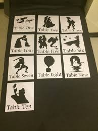 themed table numbers disney themed wedding or shower table numbers by papersbytree