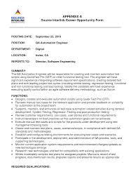 Sample Resume For 2 Years Experience In Software Testing by Software Test Engineer Sample Resume Independent Contract Trainer