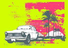 retro car wallpaper wall mural wallsauce usa retro car wall mural photo wallpaper