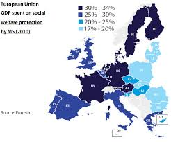Map Of Usa And Europe by Social Welfare Protection The Eu Usa And China European