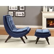 Lounge Ottoman Chelsea Lashay Velvet Lounge Chair Ottoman Blue Hayneedle