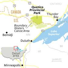 Boundary Waters Map Backcountry Cure A Paddle Trip Through Quetico Provincial Park