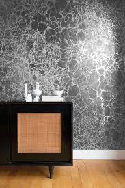 contemporary wallpaper patterned metallic handmade lunaris