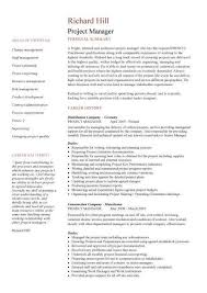 Manufacturing Manager Resume Samples by Project Manager Resume Examples Pdf Manufacturing Manager Resume