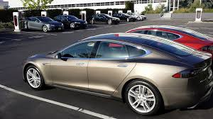 Warm Blue Color Tesla Model S 70d In New Warm Silver Color