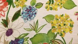 mill creek fabrics large vivid floral print on white 54