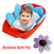 baby blooming bath mat bathtub foldable aid soft liner sink shower for babies infant flower pattern jpg
