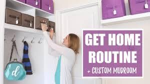 get home routine custom mudroom ideas u0026 tips youtube