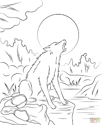 goosebump the werewolf coloring page free printable coloring pages