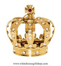 ornament gold royal king s crown ornament or desk model