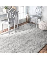 Grey Area Rug Get The Deal Nuloom Vintage Floral Lattice Silver Area Rug 8 X