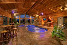 gatlinburg cabin indoor pool interesting decor es swimming in