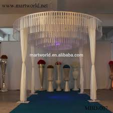 4 m height white round shape fabric wedding mandap decoration for