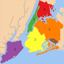 map for new york boroughs of new york city
