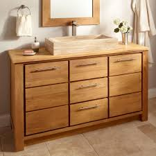 bathroom natural polished wooden double bathroom vanity sith