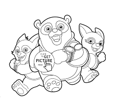 agent oso in treining coloring pages for kids printable free