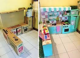 jeux de cuisine pour maman avec des cartons une mère crée un jeu de rêve pour ses enfants
