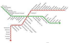 Korean Subway Map by Daegu Meto And Map Information How To Get Around Daegu