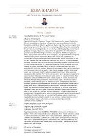 Sports Resume Sample by Nutritionist Resume Samples Visualcv Resume Samples Database