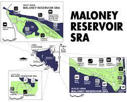 Nebraska State Map Lake Maloney