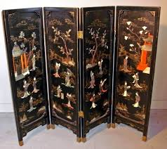 Four Panel Room Divider 19th Century Four Panel Chinese Black Lacquered Screen U2013 Avery