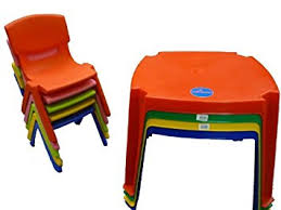 premium childrens kids plastic table and nursery chair set