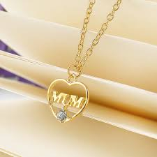 necklace for s day gold color heart pendant necklace s day